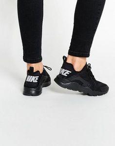 Nike Black Air Huarache Run Breathe Trainers