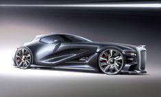 concept cars Car renderings by Alexander Opanasenko at Bugatti, Ferrari F80, Lamborghini, Pontiac Bonneville, Smart Car, Futuristic Cars, Car Sketch, Car Drawings, Automotive Design