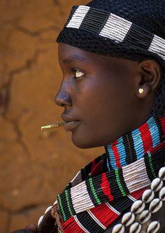 Hamer Tribe Woman, Turmi, Omo Valley, Ethiopia by Eric Lafforgue.