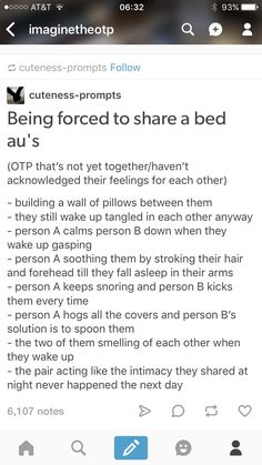 Being forced to share a bed