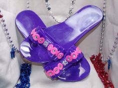 Purple/Pink Girls Sandals Bling Handmade One by MilitaryMoxieShoes, $17.50