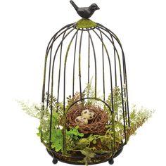 Found it at Wayfair - Bird Nest Bird Cage Bird Cage Centerpiece, Table Centerpieces, Table Decorations, Centerpiece Ideas, Bird Cages, Bird Nests, Bird Feeders, Bird Theme, Al Fresco Dining