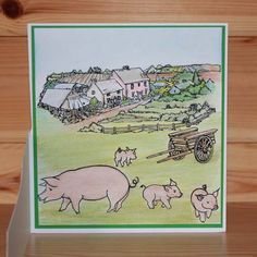 Latest release Introducing CS152D 'On the Farm' designed by the very talented Sharon Bennett. For Hobby Art Stamps.Card by Bernie Simmons