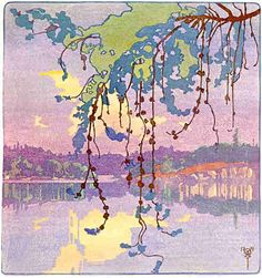 Walter J. Phillips (1884-1963 )Evening, 1921. Colour woodcut on paper.