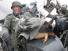 German Wehrmacht Soldier with his German Shepherd. Military Working Dogs, Military Dogs, Military Art, Military History, German Soldiers Ww2, German Army, Germany Ww2, German Uniforms, War Dogs