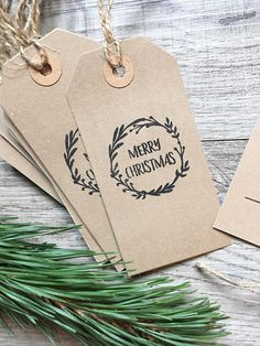 Rustic Christmas Gift Tags #ad