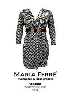VESTIDO TALLA EXTRA, EXTRA SIZE DRESS. MODA. MARÍA FERRÉ