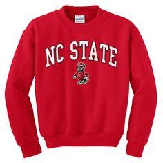 NC State Red Signature Strutting Wolf Crew Neck Sweatshirt. Size Small