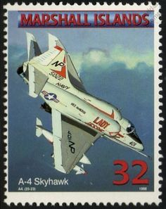 US Navy DOUGLAS A-4 SKYHAWK Ground Attack Jet Aircraft Airplane Mint Stamp in Stamps, Thematics, Transport | eBay!