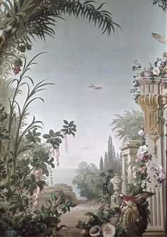surface fragments: Schloss Schonbrunn II, more images Mural Painting, Mural Art, Wall Murals, Wall Art, Paintings, Images Murales, Scenic Wallpaper, Scenery Pictures, Chinoiserie Wallpaper