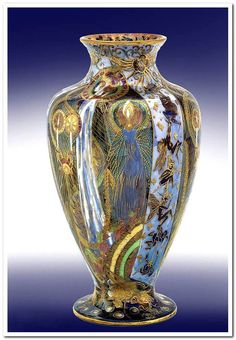 "A Fairyland Lustre vase ""Candlemas"", designed by Daisy Makeig-Jones for Wedgwood, circa 1920."