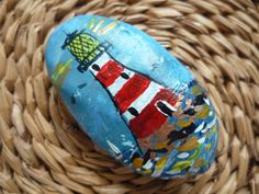Beach pebble painted for us by our guest Joyce, a lovely surprise! Coastal Art, Pebble Painting, Beach, The Beach, Beaches
