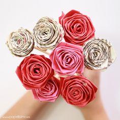 Cómo hacer rosas enrollando una tira de papel (quilling) - PAPELISIMO Origami, Tissue Paper Crafts, Paper Quilling, Diy And Crafts, Crafty, Rose, Creative, Flowers, Plants