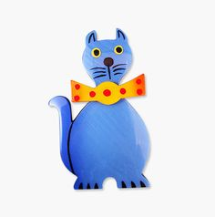 Marie Christine Pavone Cat Brooch