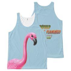 penfield pink plastic flamingo sanctuary tank top All-Over print tank top Tank Tops