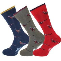 Exclusive Pheasant Dress Socks - a perfect gift for a man or stocking filler!