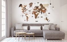 World Wall Map Anniversary Gift World Map Wooden Travel Push Pin Map Rustic Home Wood Wall Art Anniversary Gift Husband Enjoy The Wood