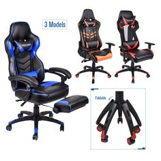 Racing Gaming Chair Ergonomic Massage High Back Office Recliner Adjustale Height Reclining Office Chair, Swivel Rocker Recliner Chair, Cheap Dining Room Chairs, Living Room Chairs, Mobile Code, Office Games, Oversized Chair, Gaming Chair, Modern Chairs