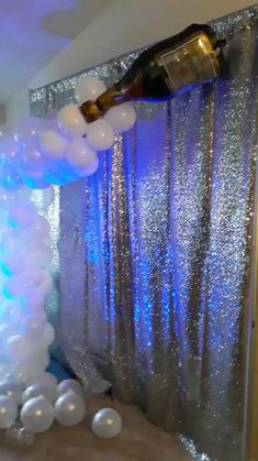 Celebrate 2020 with a New Years party that won't be forgotten! Add some champagne and balloon bubbles to set the scene! Sparkle & Shine with a sequence silver backdrop. Add your favorite music and some blue lighting to add to the mood. Have fun with bubble balloon garland and give it a diy try!