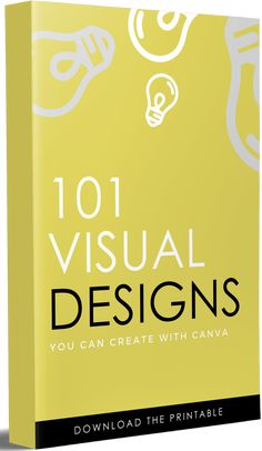 Want to learn how to use canva for visual design? This post features a list of over 101 Designs You Can Create with the program.
