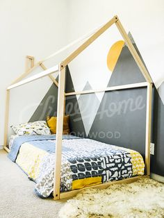 Toddler bed house bed tent bed children bed wooden house