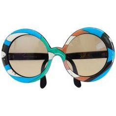 b5666b13f26 1960s Oversized Iconic Pucci Sunglasses Oversized Sunglasses