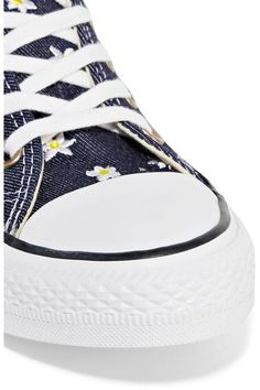 Converse - Chuck Taylor All Star Embroidered Denim Sneakers - Dark denim - UK3