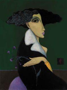 (Russia) Anna Pavlova by Sergey Smirnov (1953- 2006). Oil on canvas.