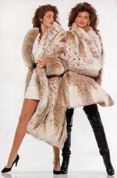 working it 80s style- Cindy Crawford & Linda Evangelista