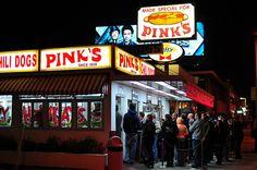 PINK'S FACADE by CathyChaplin/GastronomyBlog.com, via Flickr