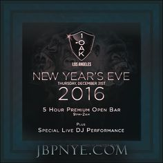 This New Year's Eve, Los Angeles swank combines with New York City panache at 1OAK LA in West Hollywood. On December 31st 2015 (Thursday), the LA chic 1OAK is where L.A.'s jet-set party crowd, nightlife celebrants and fashionistas will usher in the 2016 New Year. And with a name that is synonymous with exclusive nightlife culture, 1OAK guarantees to ignite L.A. this New Year's in a glam-filled NYE bash that will kick off your New Year with a lavish and explosive celebration.