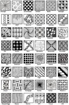 patterns #doodle #zentangle                                                                                                                                                                                 Más