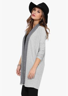 Inside Out Long Sleeve Cardigan in Green | Necessary Clothing