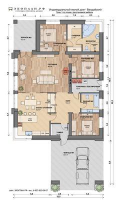 My House Plans, House Floor Plans, Bungalows, Bungalow Floor Plans, Modern Bungalow, Sims 4 Houses, Cottage Plan, Facade House, Building Plans