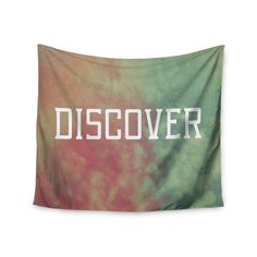 "Rachel Burbee ""Discover"" Green Orange Wall Tapestry"