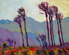 Indian Wells abstract expressionist painting by American impressionist Erin Hanson