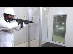 LLumar Safety & Security Film Shooter Demonstration - YouTube Security Window Film, Tempered Glass Door, Thing 1, Audio In, Safety And Security, Youtube, House, Home, Haus