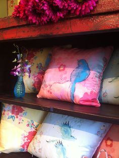 New! The Kathe Fraga Home Silk And Linen Pillow Collection Is Now Available  T Flowering