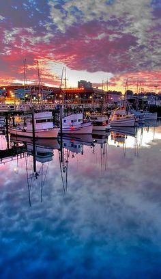 Fishermen's Wharf ~ San Francisco at dusk, California   Flickr - Photo by canbalci