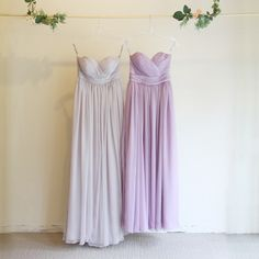 5wayロングドレス・クレープシフォン(ラベンダー)エアリーな質感が女性らしい、クレープシフォンのロングドレス。 #Bridesmaid #Wedding #Dress #Lavender #Pastel