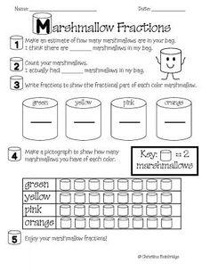 FREE  Marshmallow Fractions from Mrs. Bainbridge's Shop on TeachersNotebook.com -  (1 page)