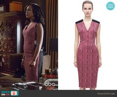 Olivia's red checked front dress on Scandal. Outfit Details: https://wornontv.net/57728/ #Scandal Buy it here: http://wornon.tv/36154