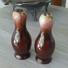 Drip glaze salt and pepper shakers for sale in our Etsy shop. Nationwide shipping.