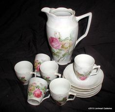Vintage Shabby Chic Pink Roses Chocolate Pot by LionheartGalleries, $39.95