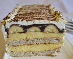 Bananita- mandľovo-banánový dezert (fotorecept) - obrázok 7 Nutella, Tiramisu, Food And Drink, Birthday Cake, Menu, Ethnic Recipes, Desserts, 3, Cake Ideas