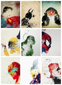 Super Heroes Painted by Arian Noveir (via @Rachel Martins)