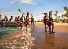 Augusto Ferrer-Dalmau. Expedition Alons de Ojeda landed in Playo Honda, 1502 year.