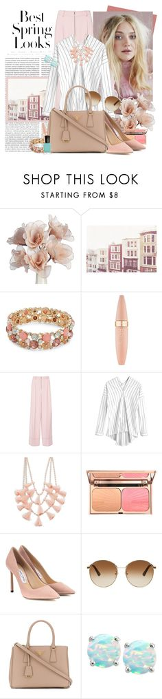 """""""Personal Style 202"""" by jojofashion8 ❤ liked on Polyvore featuring H&M, Design Lab, Maybelline, Jimmy Choo, Gucci, Prada, Giani Bernini, Deborah Lippmann, Spring and personalstyle"""