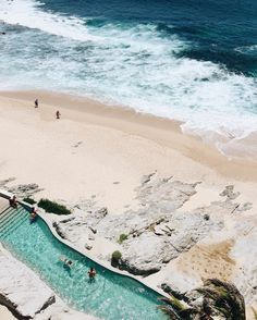 Mexico seaside pool