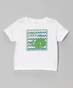 This White & Green Whale Personalized Tee - Infant, $18 Toddler & Boys is perfect! #zulilyfinds